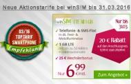 Aktion bis 31.03.: Telefonie-Flat, SMS-Flat, 1GB LTE im o2-Netz monatlich kündbar für nur 6,99 € pro Monat